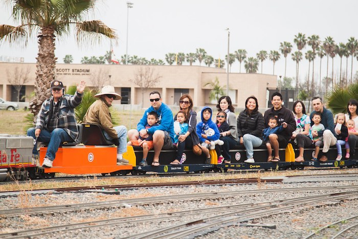 Model Train Full Of Riders At Fairview Park Costa Mesa