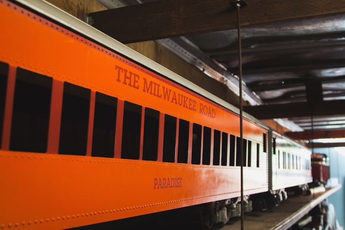 Orange Model Train Car The Milwaukee Road