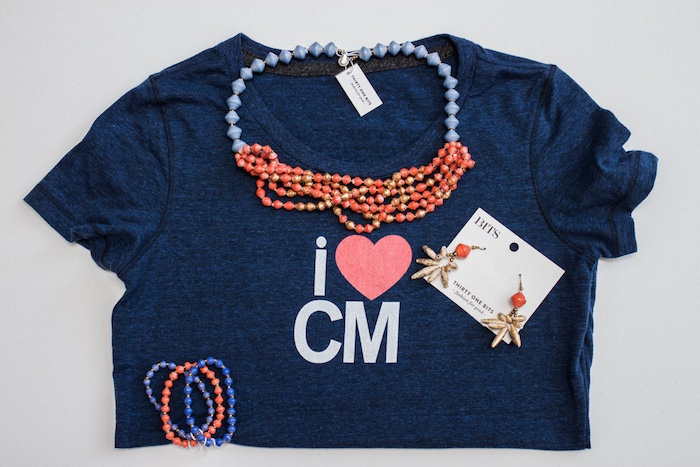 I Heart Costa Mesa Shirt With 31 Bits Accessories