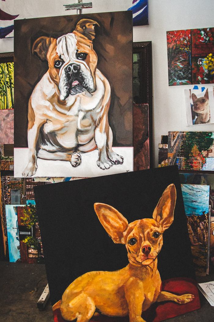 Location 1980: Paintings Of Dogs By Artist Jesse Fortune