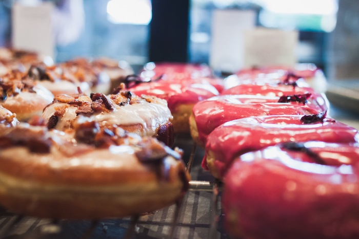 Sidecar Doughnuts & Coffee: Huckleberry and Maple Bacon Donuts