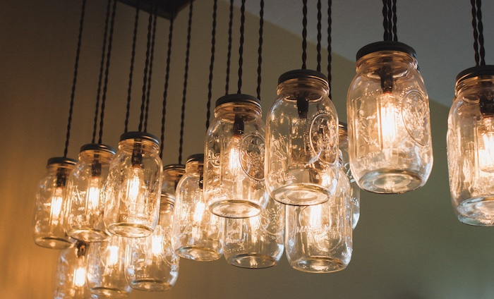 Fermentation Farm: Mason Jar Chandelier