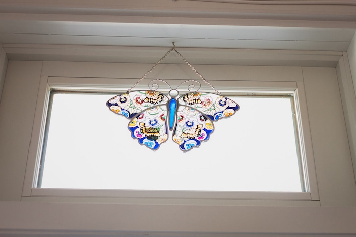 I Heart Costa Mesa: New Directions Stained-Glass Butterfly