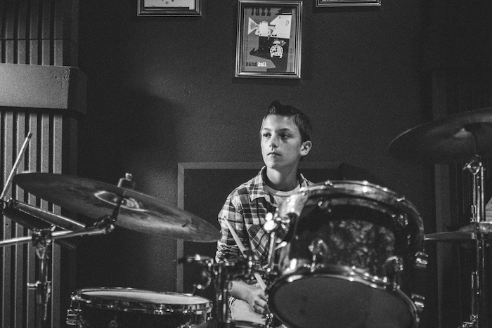 I Heart Costa Mesa, Music Factory OC, Nash, Drum Lessons, Black and White